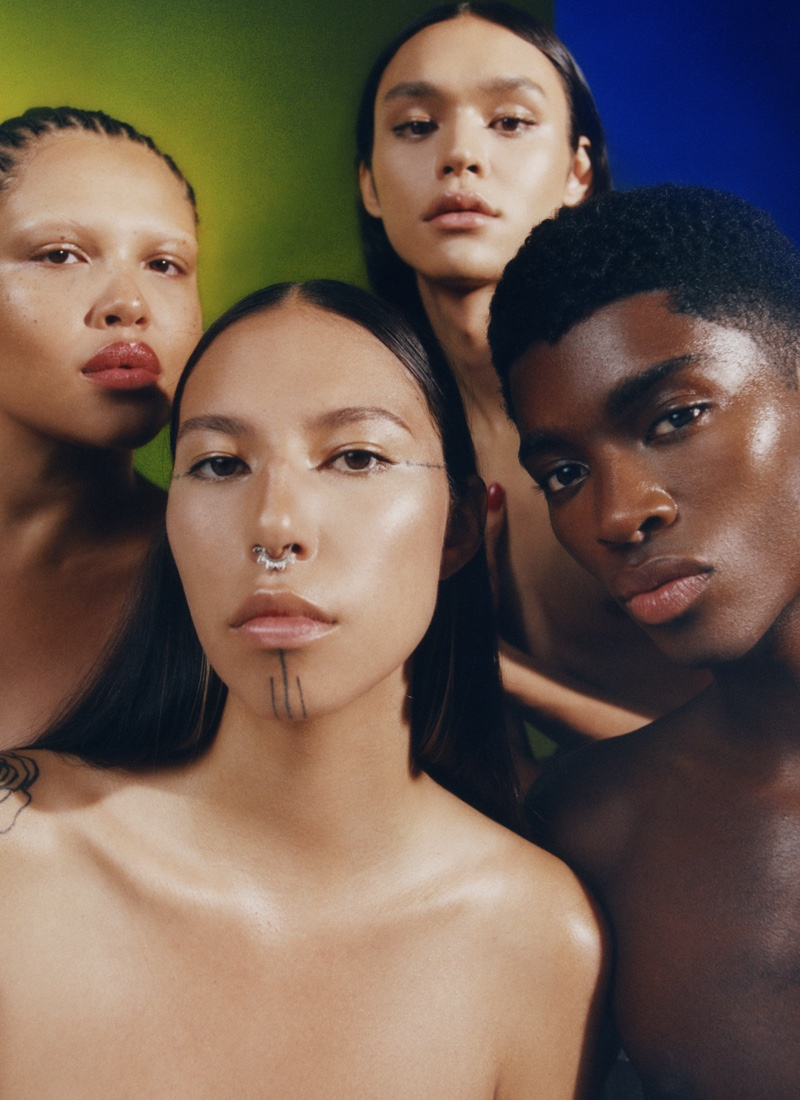 Quannah, Alva, Charlie Pose for Allure's Best of Beauty Feature