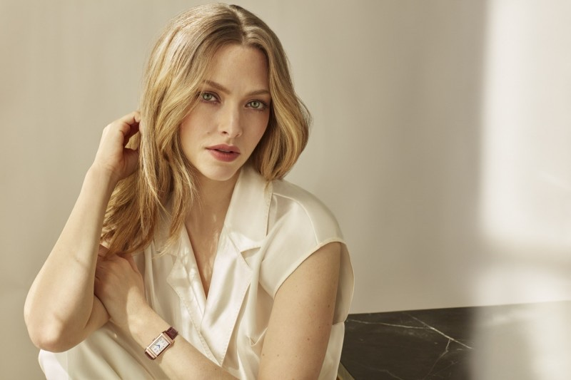 Amanda Seyfried stars in Jaeger-LeCoultre Reverso Watch campaign.