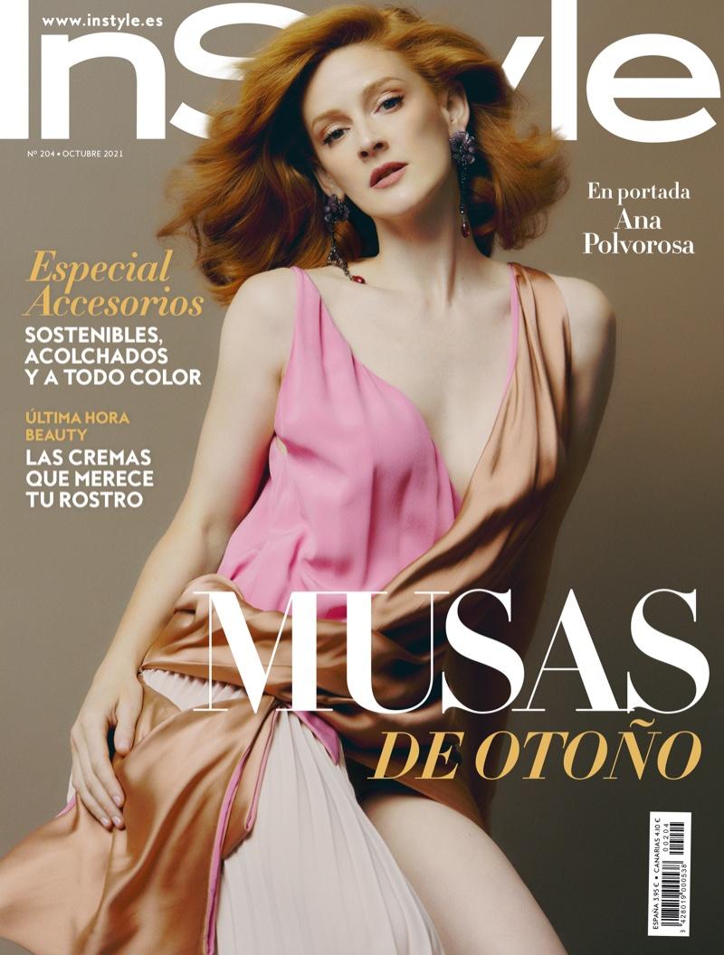 Ana Polvorosa on InStyle Spain October 2021 Cover. Photo: Javier Biosca