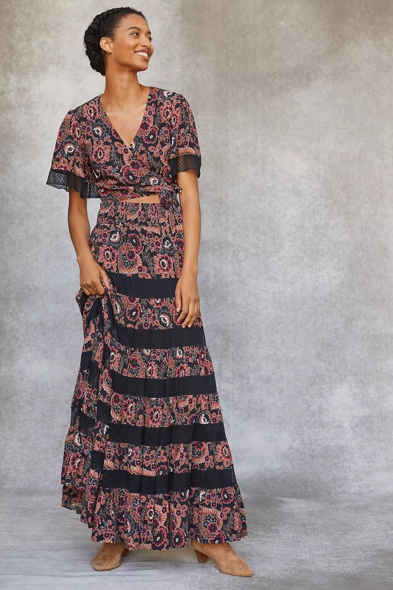 Anthropologie Floral Skirt Set $228