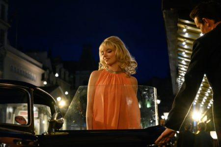 Anya Taylor-Joy as Sandie wears pink tent dress in LAST NIGHT IN SOHO, a Focus Features release. | Photo Credit: Parisa Taghizadeh / © 2021 Focus Features, LLC