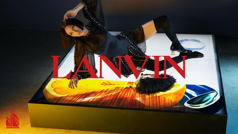 Lanvin taps Bella Hadid for its fall-winter 2021 campaign.
