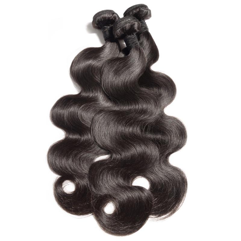 Body wave virgin remy black human hair weave bundles extensions