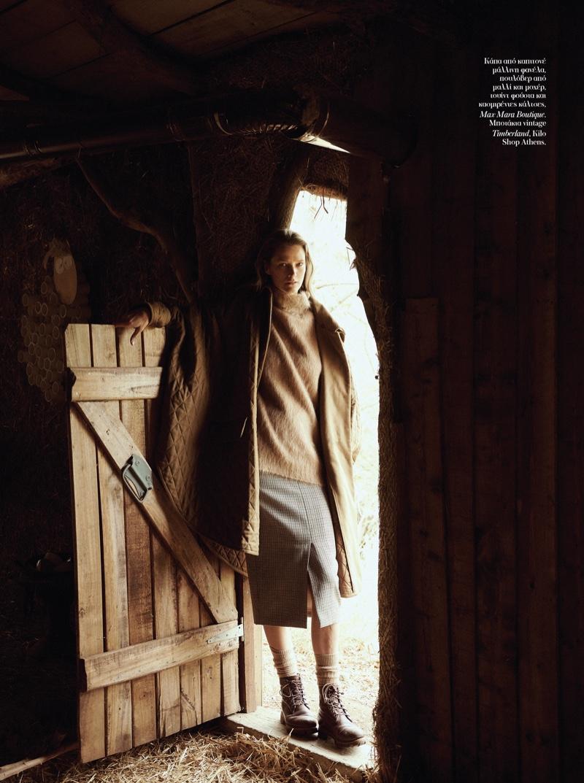 Carmen Kass Models Autumn Styles for Vogue Greece