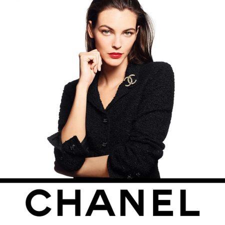 Vittoria Ceretti poses for Chanel Ultra Le Teint Foundation campaign.
