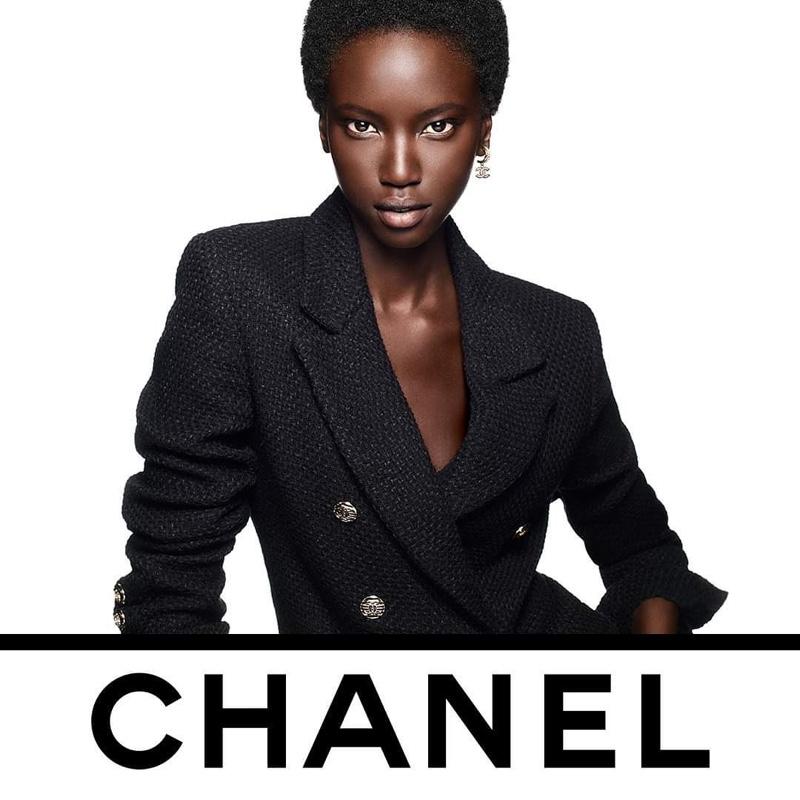 Anok Yai stars in Chanel Ultra Le Teint Foundation campaign.