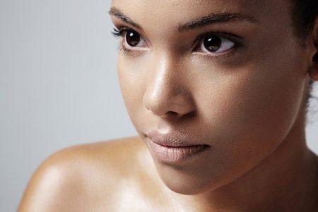 Closeup Model Oily Skin Beauty