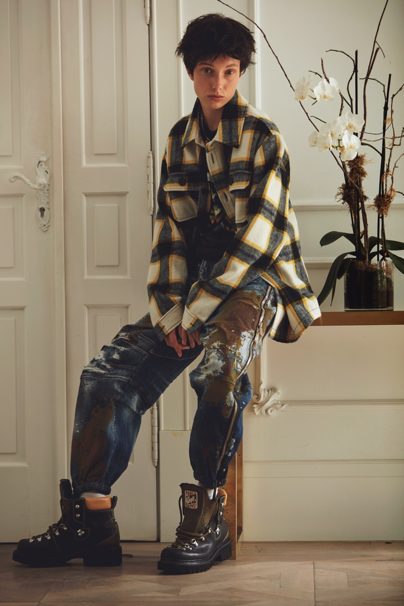 Demy de Vries Models Dual Looks for InStyle Spain