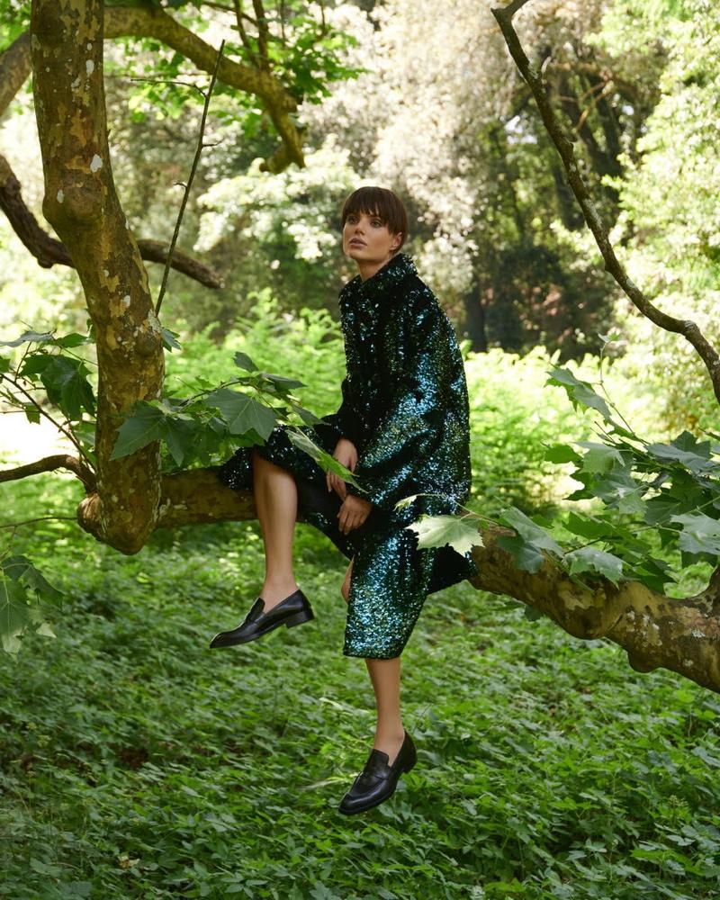 Emilia Vucinic Wears Elegant Fashions for ELLE Germany