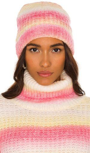 For Love & Lemons Rosa Beanie in Pink.