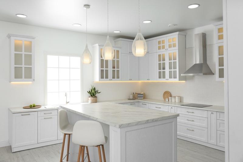 Home Kitchen White Color Palette