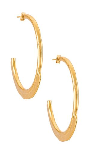 House of Harlow 1960 House of Harlow Arch Hoops in Metallic Gold.