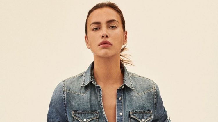 Irina Shayk stars in Replay Jeans Rose Label campaign.