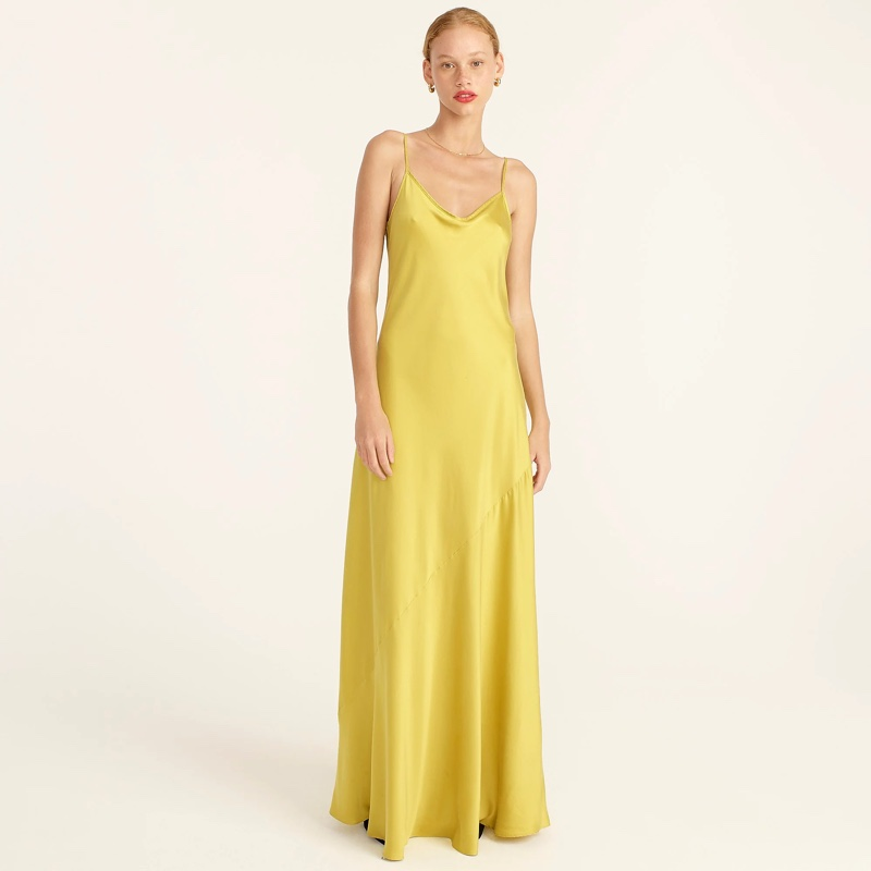 J. Crew Limited-Edition Tie-Back Silk Charmeuse Slip Dress $298