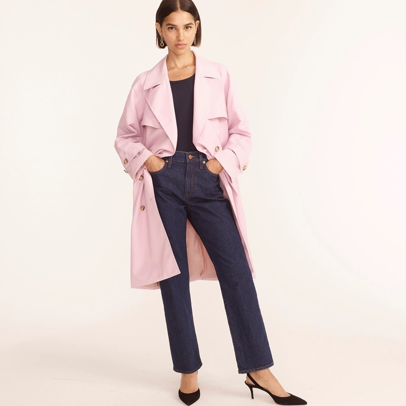 J. Crew Relaxed Trench Coat in Nylon $328