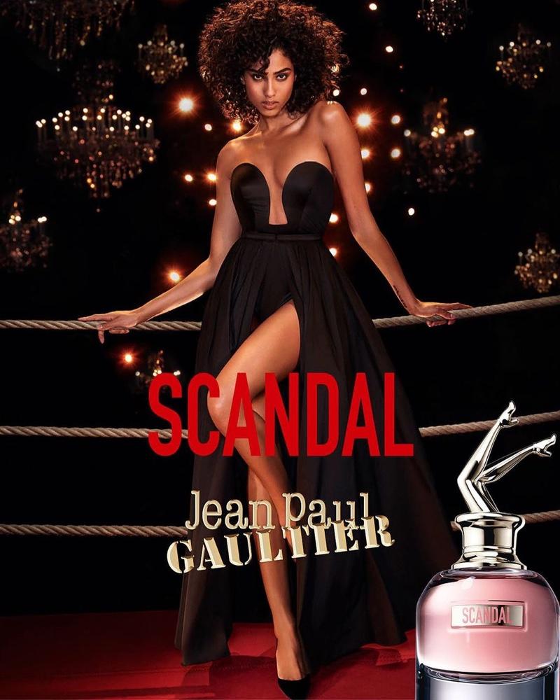 Imaan Hammam stars in Jean Paul Gaultier Scandal fragrance campaign.