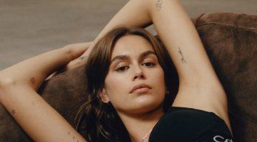Kaia Gerber Models Underwear for Calvin Klein Fall 2021 Campaign