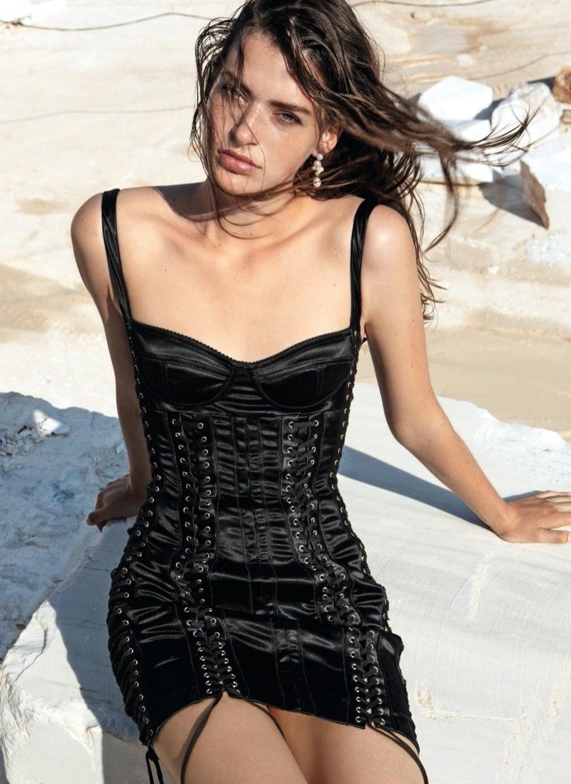 Karlijn Kusters Wears Chic Styles for Harper's Bazaar Germany