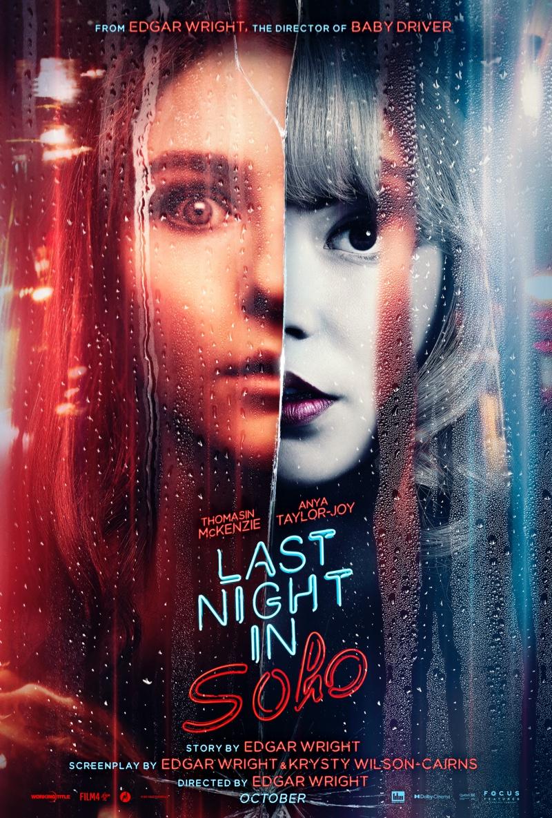 Edgar Wright's LAST NIGHT IN SOHO movie poster. | Photo Credit: © 2021 Focus Features, LLC