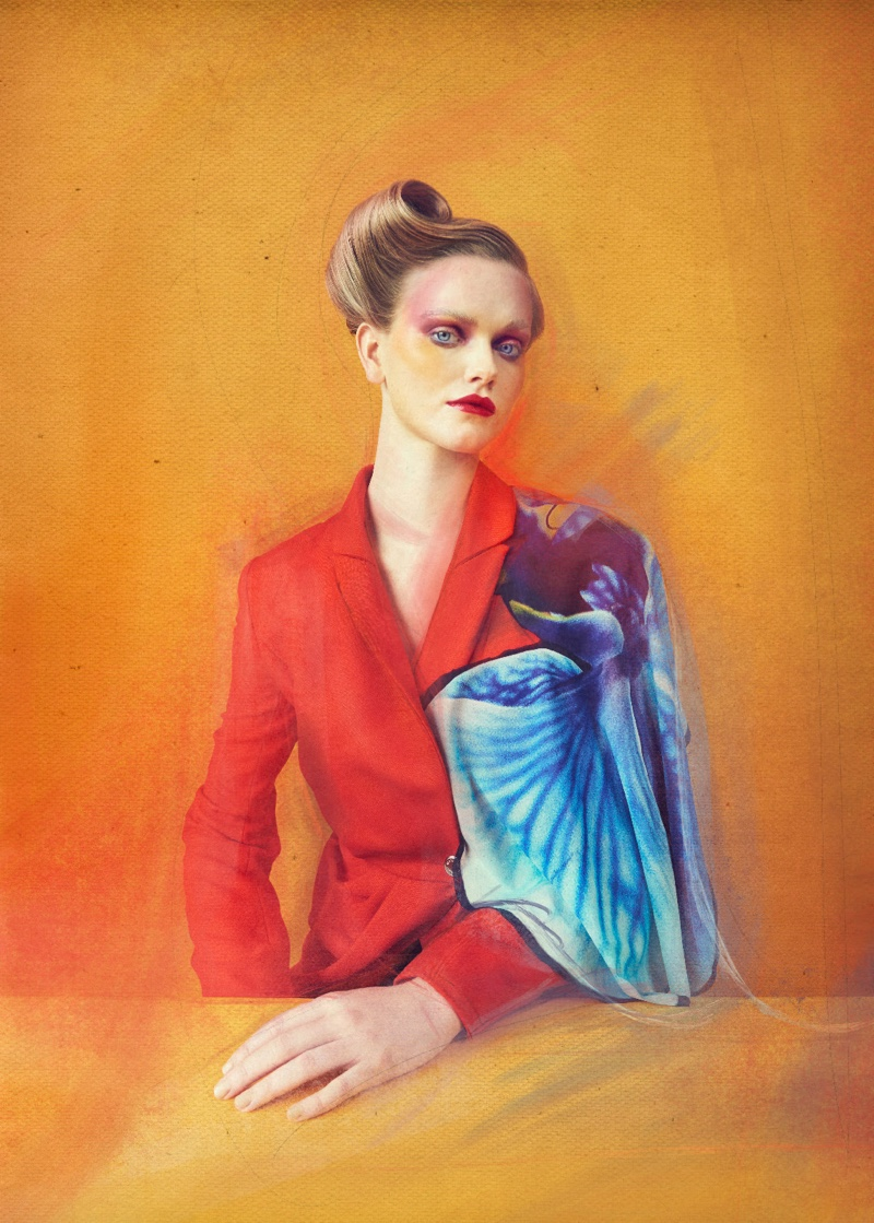 Lily Chapman Is Like A Work of Art for L'Officiel Baltics