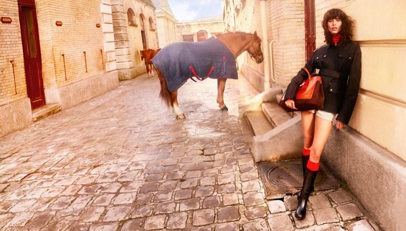Mica Arganaraz stars in Longchamp fall-winter 2021 campaign.