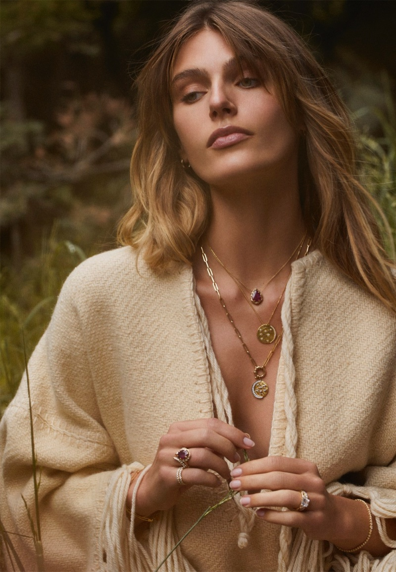 Madison Headrick poses for Logan Hollowell Jewelry. Photo: Adam Franzino