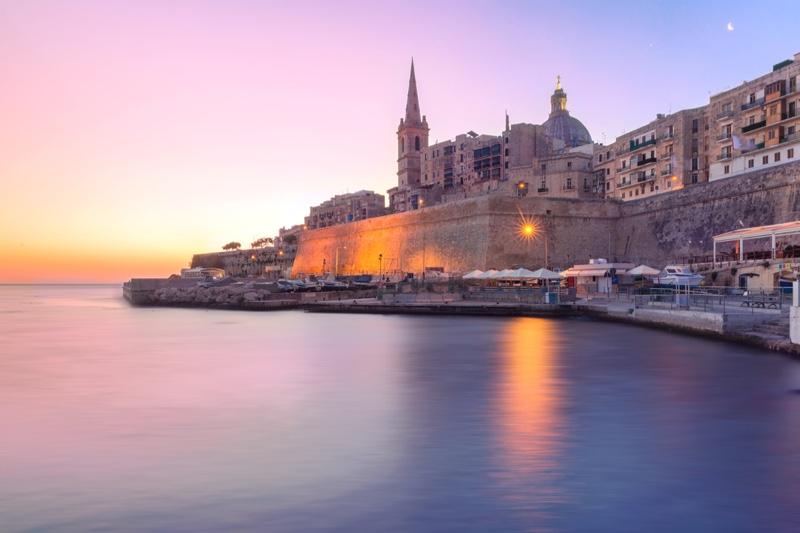 Malta Valletta Skyline Church