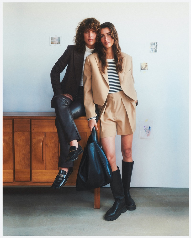 Gigi Ringel and Eeva Lioni front Mango This is Family fall-winter 2021 campaign.