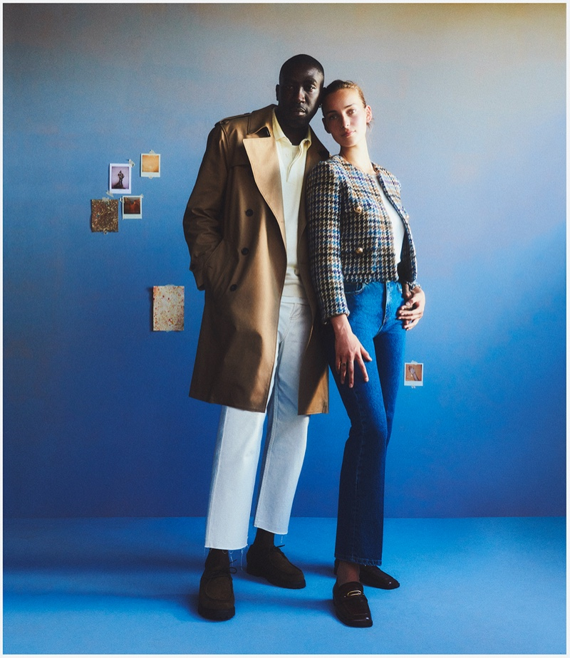 Couple Julia Bergshoeff and Camille Tanoh star in Mango This is Family fall-winter 2021 campaign.