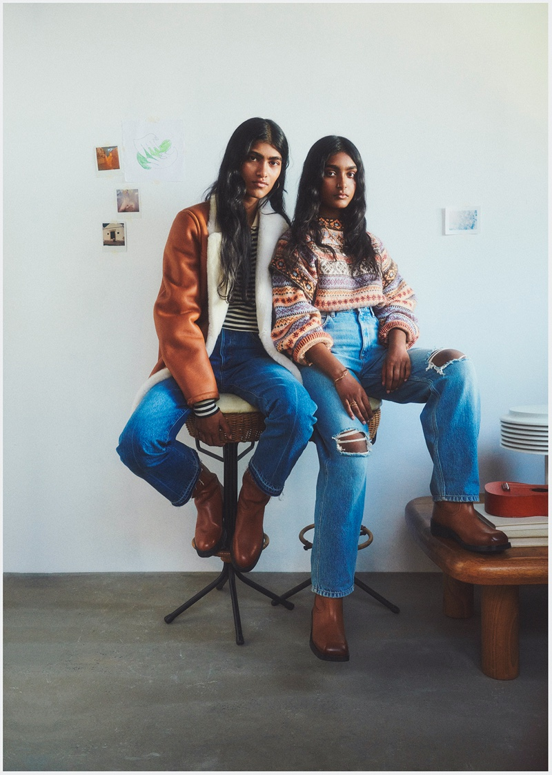 Sisters Ashley Radjrame and Shirley Radjrame star in Mango This is Family fall-winter 2021 campaign.