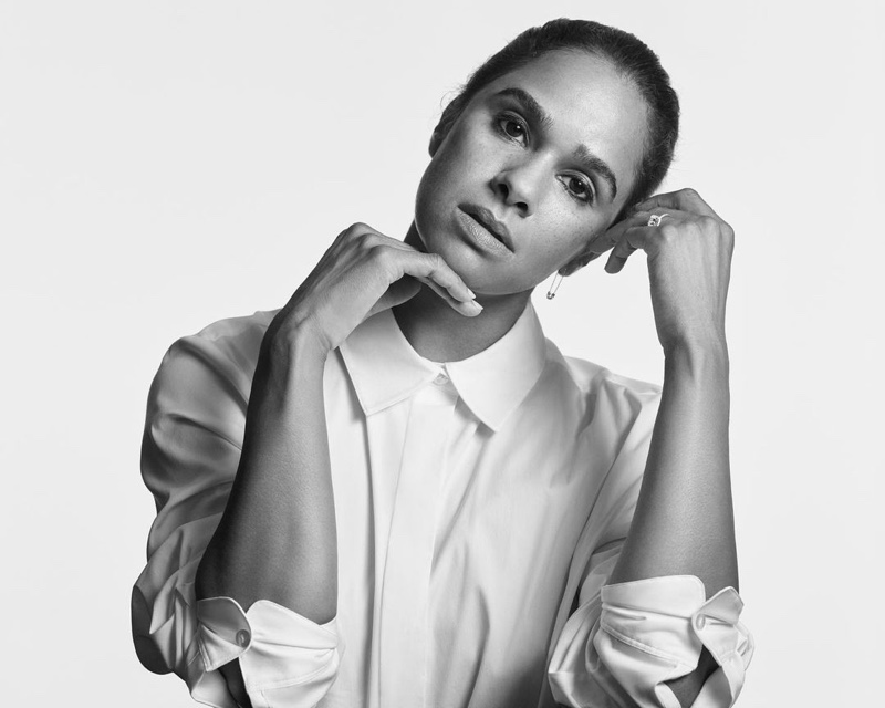 Misty Copeland poses for Theory Fall 2021 In Pursuit of Tomorrow campaign.