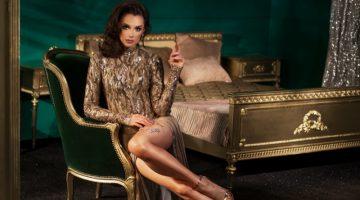 Model Luxury Bedroom Gold Decor Dress
