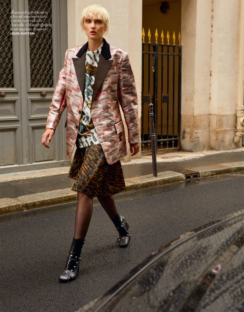 Oliwia Lis Poses in Cool Street Style for ELLE Thailand