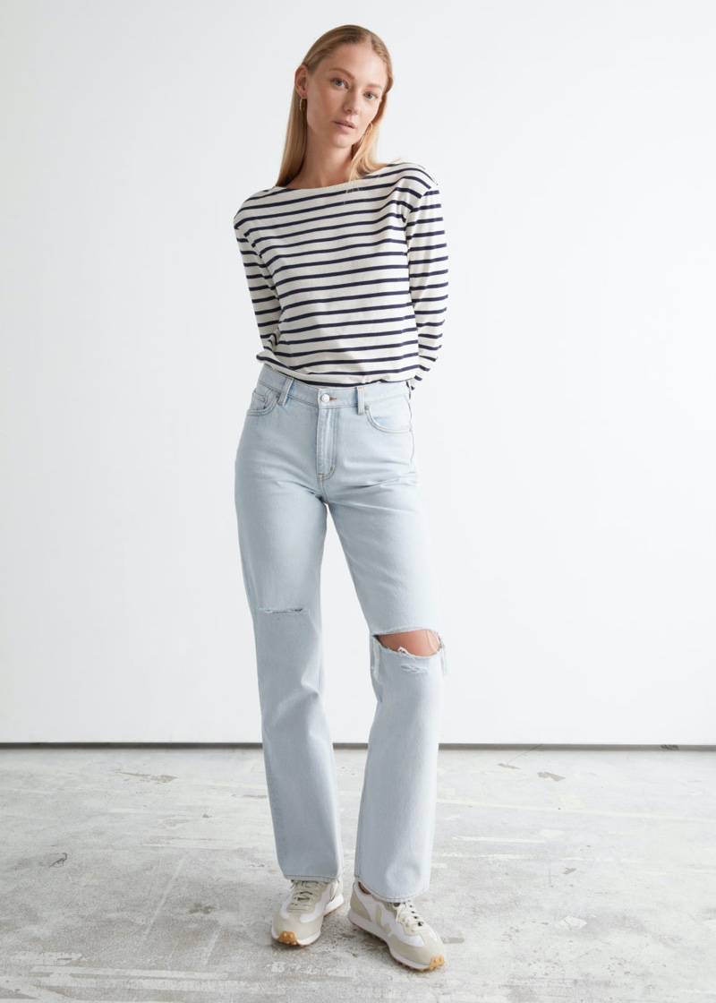 & Other Stories Precious Cut Jeans in Pale Blue $99