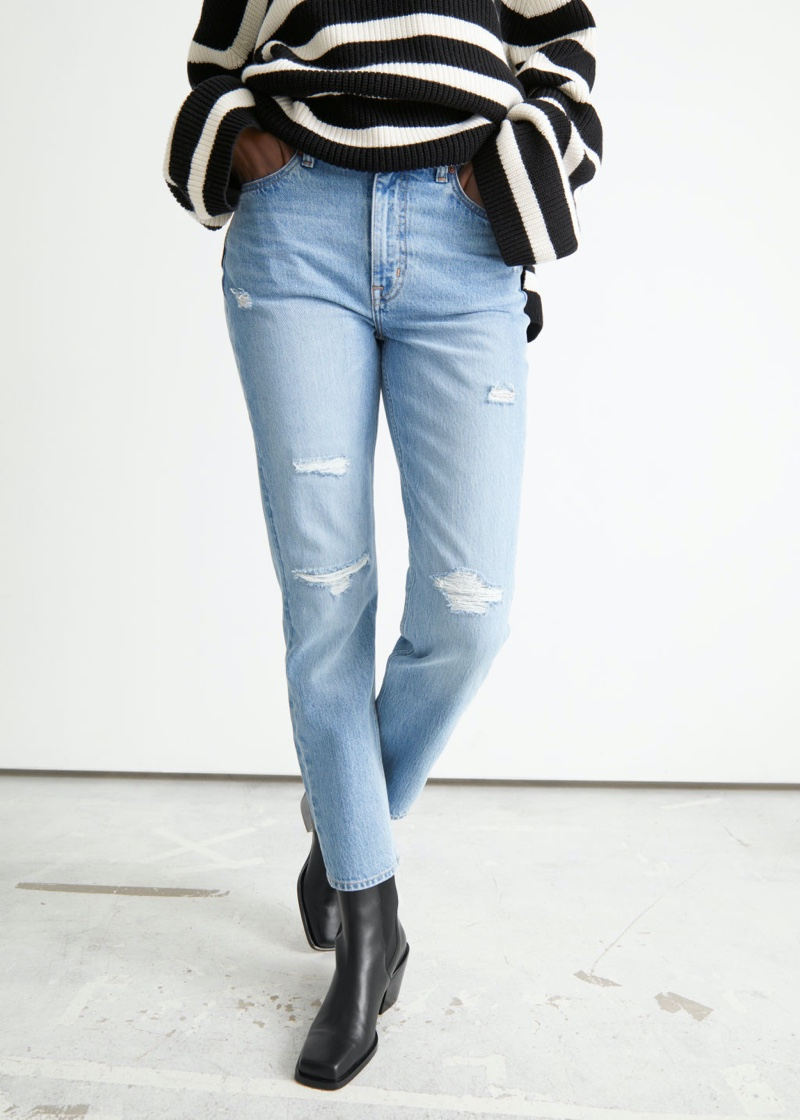 & Other Stories XOXO Cut Jeans in Light Blue $99