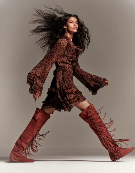 Pooja Mor Models On-Trend Styles for ELLE India