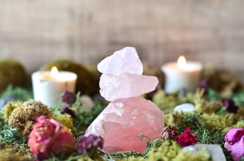 Rose Quartz Crystal Garden Concept
