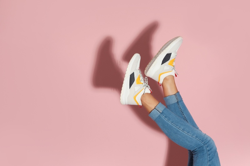 Sneakers Woman Legs Jeans