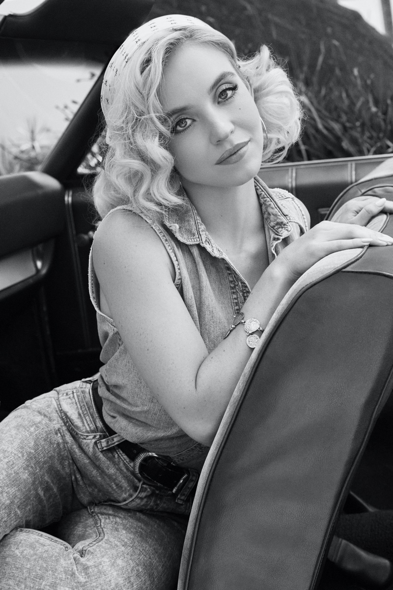 Sydney Sweeney stars in GUESS Originals x Anna Nicole Smith campaign.