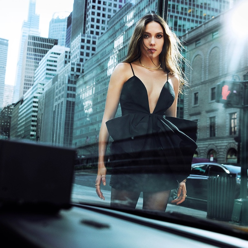 Eileen Gu poses for Tiffany & Co. Knot Your Typical City campaign.