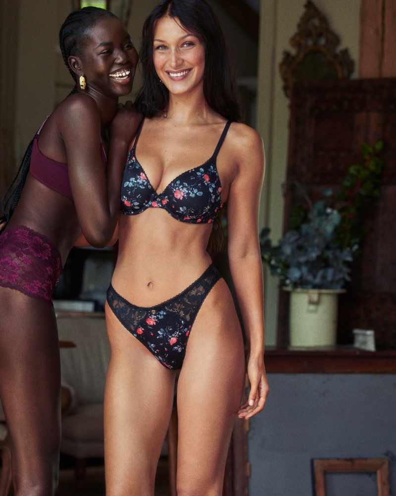 Adut Akech and Bella Hadid star in Victoria's Secret Body by Victoria fall 2021 campaign.