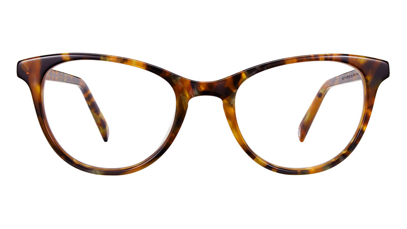 Warby Parker Madeleine Glasses in Oyster Shell Tortoise $95