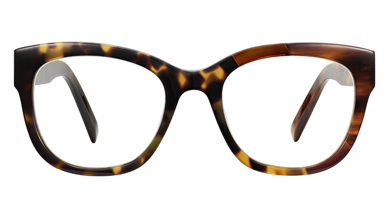 Warby Parker Tatum Glasses in Tortoise Collage III $195