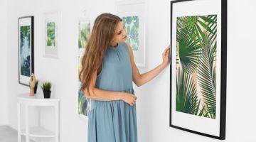 Woman Looking hanging Artwork Tropical