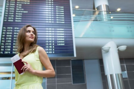 Woman Passport Airport
