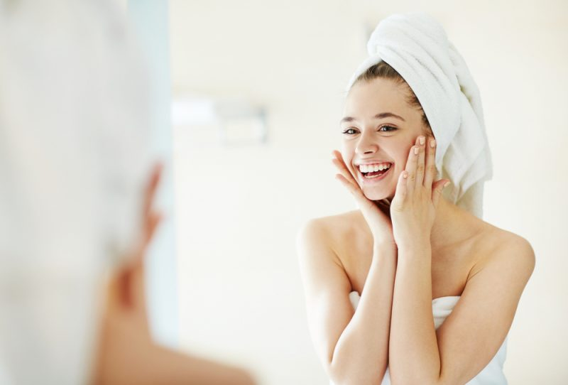 Woman with Clean Face