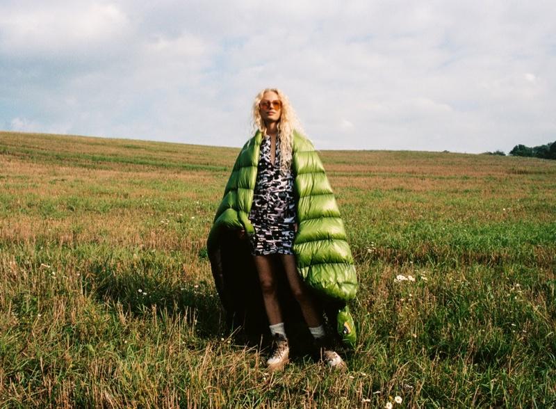 Zara Satin Effect Print Dress.