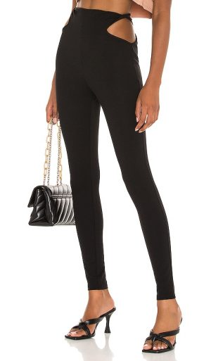 h:ours Alessandro Legging in Black. - size L (also in M, XL)