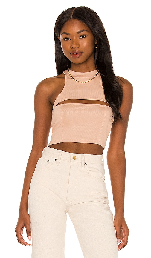 h:ours Moe Crop Tank in Nude. - size S (also in L, M, XL, XS, XXS)