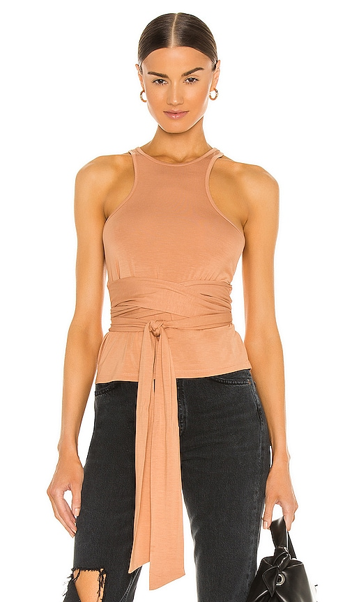 h:ours Natt Wrap Tank in Nude. - size XS (also in S)